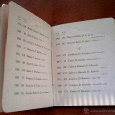 Libros antiguos: LIBRO-CIRCULO DEL LICEO-TEATRO,LISTA SOCIOS AÑO 1916,ARTISTAS,NOBLES,BURGUESES,POLITICOS,BARCELONA. Lote 46107702