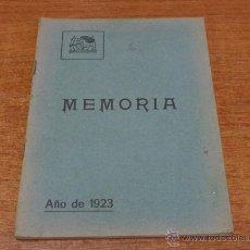 Libros antiguos: SOCIEDAD FILARMONICA DE OVIEDO MEMORIA 1923. ASTURIAS-OVIEDO-1924. Lote 46231986