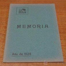 Libros antiguos: SOCIEDAD FILARMONICA DE OVIEDO MEMORIA 1924. ASTURIAS-OVIEDO-1925.. Lote 46232007