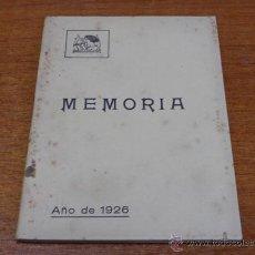 Libros antiguos: SOCIEDAD FILARMONICA DE OVIEDO MEMORIA 1926. ASTURIAS-OVIEDO-1927. Lote 46232052