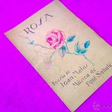 Libros antiguos: OBRA MUSICAL ORIGINAL AMB DIBUIX, LLETRA Y MUSICA, JOAN MATAS, JOSEP FONT SABATE, ROSA, 1931. Lote 47507551