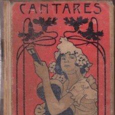 Libros antiguos: CANTARES POPULARES Y LITERARIOS RECOPILADOS POR D. MELCHOR DE PALAU. 1900. Lote 47834220