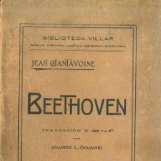 Libros antiguos: CHANTAVOINE : BEETHOVEN (VILLAR, VALENCIA, 1916). Lote 49338425