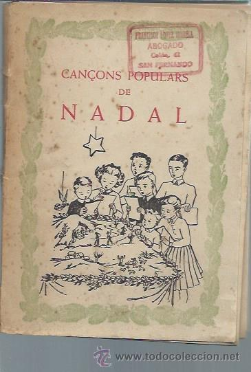 CANCONS POPULARS DE NADAL, EXCLUSIVES DURVE BARCELONA 64 PÁGS, RÚSTICA, 14X19CM, SIN FECHAR (Libros Antiguos, Raros y Curiosos - Bellas artes, ocio y coleccion - Música)