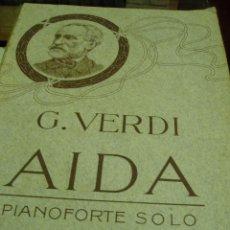 Libros antiguos: AIDA. DE GIUSEPPE VERDI 1871. Lote 50291195