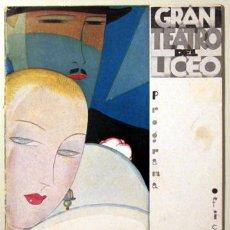 Libros antiguos: GRAN TEATRO DEL LICEO. TEMPORADA 1927-1928 - BARCELONA 1927. Lote 171216300