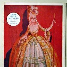 Libros antiguos: GRAN TEATRO DEL LICEO. TEMPORADA 1921-192 - BARCELONA 1921. Lote 50538687