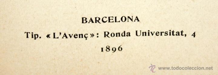 Libros antiguos: MÚSICA VELL POR EVELÍ DORIA BONAPLATA. TIP. (LAvenç, Barcelona, 1896) - Foto 5 - 51260034