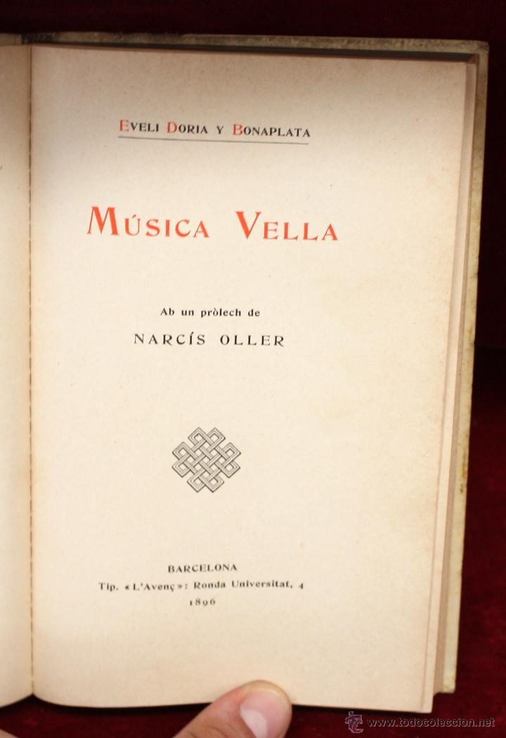 Libros antiguos: MÚSICA VELL POR EVELÍ DORIA BONAPLATA. TIP. (LAvenç, Barcelona, 1896) - Foto 6 - 51260034