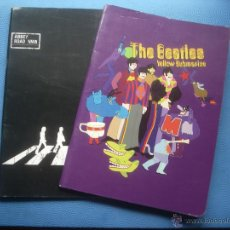 Libros antiguos: DOS LIBRETAS THE BEATLES YELLOW SUBMARINE + ABBEY ROAD NW8 21 X 15 CM MIKELRIUS SPAIN PEPETO. Lote 51639032
