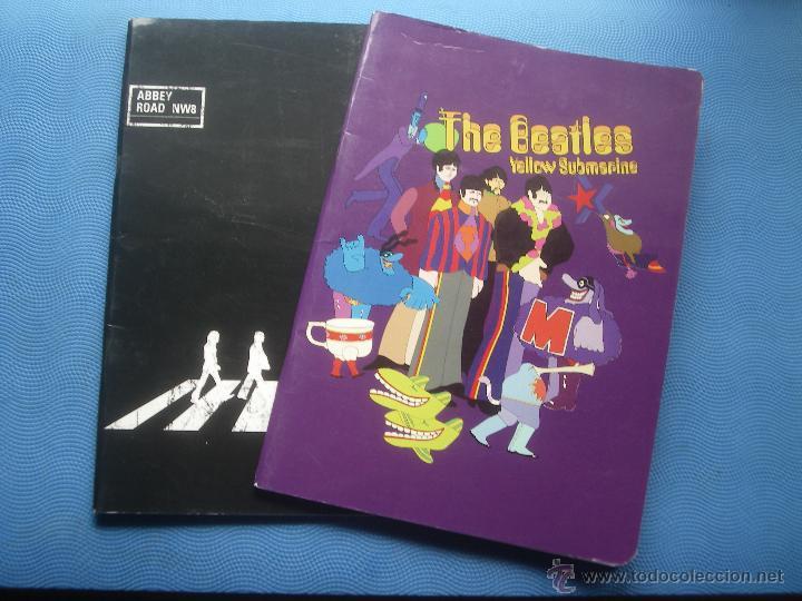 DOS LIBRETAS THE BEATLES YELLOW SUBMARINE + ABBEY ROAD NW8 30 X 20 CM MIKELRIUS SPAIN PEPETO (Libros Antiguos, Raros y Curiosos - Bellas artes, ocio y coleccion - Música)
