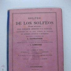 Libros antiguos: SOLFEO DE LOS SOLFEOS. ENRIQUE LEMOINE Y G. GARULLI. CUADERNO 3º.. Lote 51765715