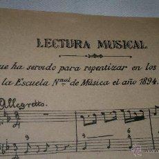 Libros antiguos: LIBRO DE SOLFEO. Lote 52741757