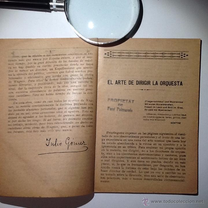 Libros antiguos: El arte de dirigir la orquesta. Wagner, Ricard / Julio Gomez. Ed. Rubio 1925 - Foto 2 - 53617789
