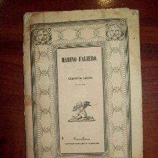 Libros antiguos: MARINO FALIERO : TRAGEDIA TRAGEDIA LÍRICA IN TRE ATTI DA REPRESENTARI NEL GRAN TEATRO DEL LICEO.... Lote 54425135