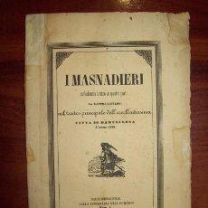 Libros antiguos: I MASNADIERI : MELODRAMA LIRICO IN QUATRO PARTI DA RAPRESENTARSI NEL TEATRO PRINCIPALE... 1848. Lote 54425177