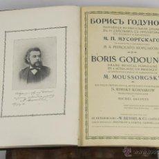 Libros antiguos: 6448- BORIS GODOUNOW. M. MOUSSORGSKY. DRAMA EN 4 ACTOS. EDIT. W. BESSEL. 1908.. Lote 49650557