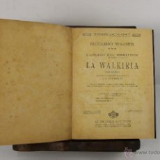 Libros antiguos: 5466- RICARDO WAGNER. COLECCION DE OPERAS COMPLETAS. EDIT. RICORDI. 5 VOL . S/F.. Lote 45860269