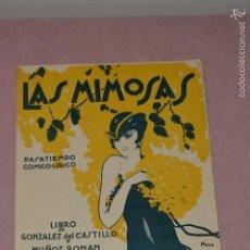 Libros antiguos: PARTITURA LAS MIMOSAS PASATIEMPO COMICO-LIRICO. Lote 55937980