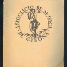 1261 Associació de Música de Girona Weber Bach Borodin Albéniz 1923 El autonomista