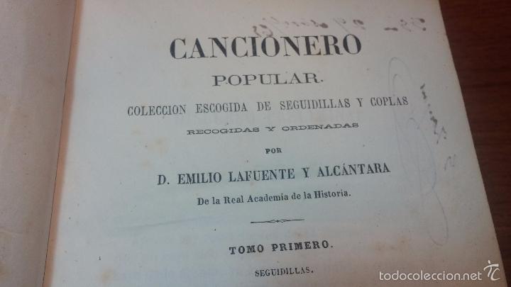 Libros antiguos: Dos libros o dos tomos en uno de 1865, Coplas y Seguidillas - Foto 15 - 56653889