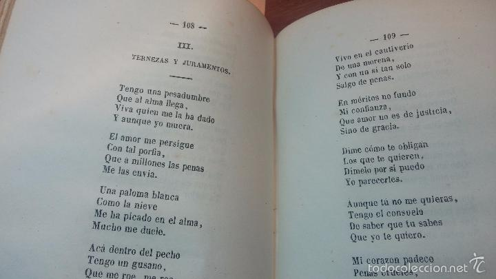 Libros antiguos: Dos libros o dos tomos en uno de 1865, Coplas y Seguidillas - Foto 16 - 56653889