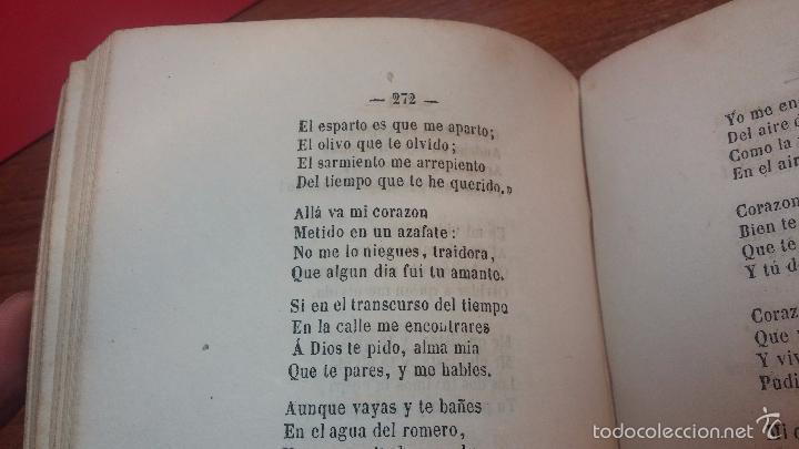 Libros antiguos: Dos libros o dos tomos en uno de 1865, Coplas y Seguidillas - Foto 21 - 56653889