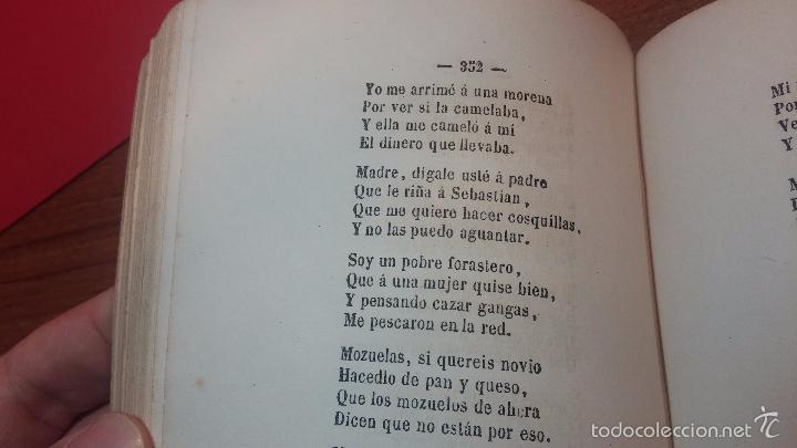 Libros antiguos: Dos libros o dos tomos en uno de 1865, Coplas y Seguidillas - Foto 23 - 56653889