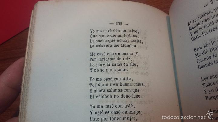 Libros antiguos: Dos libros o dos tomos en uno de 1865, Coplas y Seguidillas - Foto 24 - 56653889