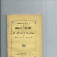 Libros antiguos: 1894 - PROMPTUARIO DE SOLFEO EN PREGUNTAS Y RESPUESTAS O SEA LA SOLA TEORIA DEL SOLFEO. Lote 57016661