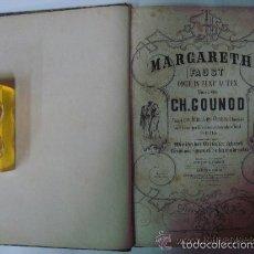 Libros antiguos: BELLA PARTITURA ANTIGUA DE LA OPERA DE FAUSTO. GRABADO. FOLIO. APROX. 1850. RARO.. Lote 57626707