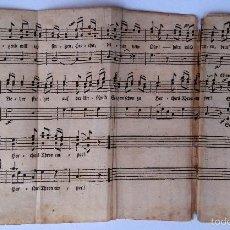 Libros antiguos: MUSICA,ANTIGUA PARTITURA ALLEGRETTO, AÑO 1795,PROCEDE LIBRO HERMANN URMINIUS,LETRA Y NOTAS MUSICALES. Lote 57695347