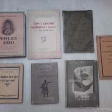 Libros antiguos: ABELARDO LLOMBART, JOSE CALICO, PAOLO GUETTA, MAX REGER, GEORGE THORP, MANUALI HOEPLE. VOZ Y CANTO... Lote 58381690