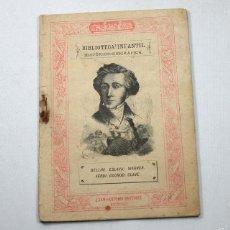 Libros antiguos: BIBLIOTECA INFANTIL, MUSICOS:BELLINI,ESLAVA,WAGNER,VERDI,GOUNOD,CLAVE,BASTINOS EDITORES 1885 32 PAG. Lote 58483913