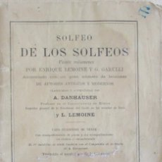 Libros antiguos: SOLFEO DE LOS SOLFEOS. ENRIQUE LEMOINE Y G. GARULLI. CUADERNO 2. . Lote 60961467
