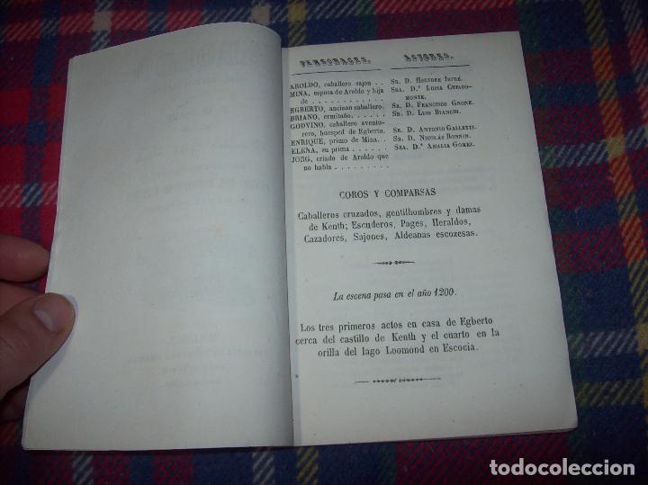 Libros antiguos: AROLDO.TRAGEDIA LÍRICA EN CUATRO ACTOS DE F.M. PIAVE. MÚSICA DEL MAESTRO VERDI. MALLORCA. 1863. - Foto 3 - 63424244