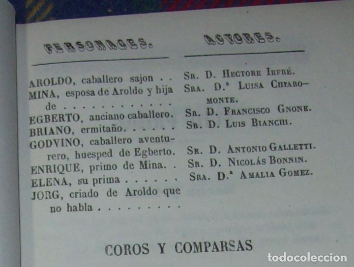 Libros antiguos: AROLDO.TRAGEDIA LÍRICA EN CUATRO ACTOS DE F.M. PIAVE. MÚSICA DEL MAESTRO VERDI. MALLORCA. 1863. - Foto 4 - 63424244