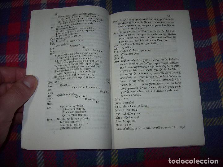 Libros antiguos: AROLDO.TRAGEDIA LÍRICA EN CUATRO ACTOS DE F.M. PIAVE. MÚSICA DEL MAESTRO VERDI. MALLORCA. 1863. - Foto 7 - 63424244