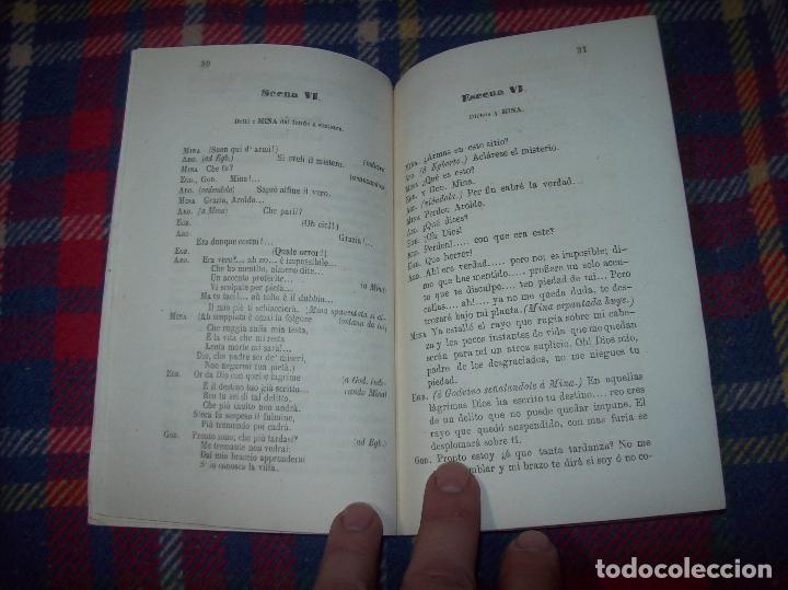 Libros antiguos: AROLDO.TRAGEDIA LÍRICA EN CUATRO ACTOS DE F.M. PIAVE. MÚSICA DEL MAESTRO VERDI. MALLORCA. 1863. - Foto 8 - 63424244