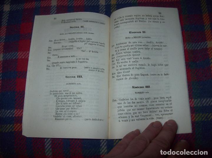 Libros antiguos: AROLDO.TRAGEDIA LÍRICA EN CUATRO ACTOS DE F.M. PIAVE. MÚSICA DEL MAESTRO VERDI. MALLORCA. 1863. - Foto 9 - 63424244