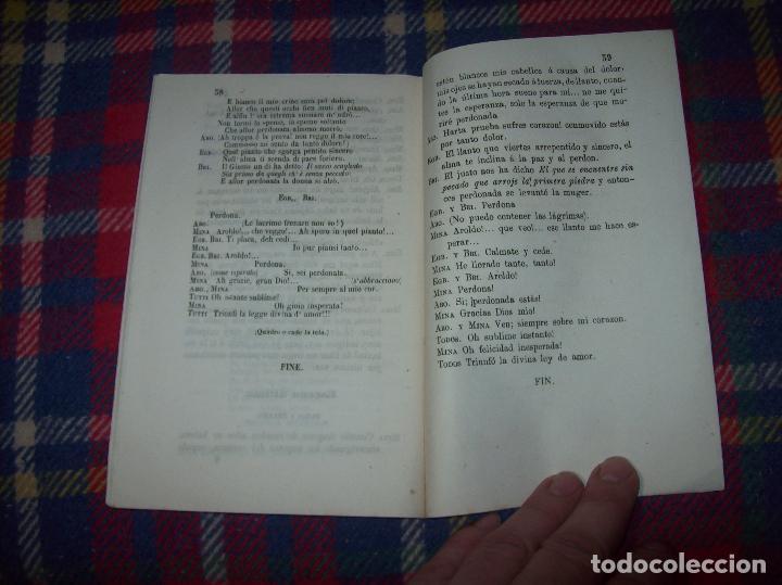 Libros antiguos: AROLDO.TRAGEDIA LÍRICA EN CUATRO ACTOS DE F.M. PIAVE. MÚSICA DEL MAESTRO VERDI. MALLORCA. 1863. - Foto 11 - 63424244