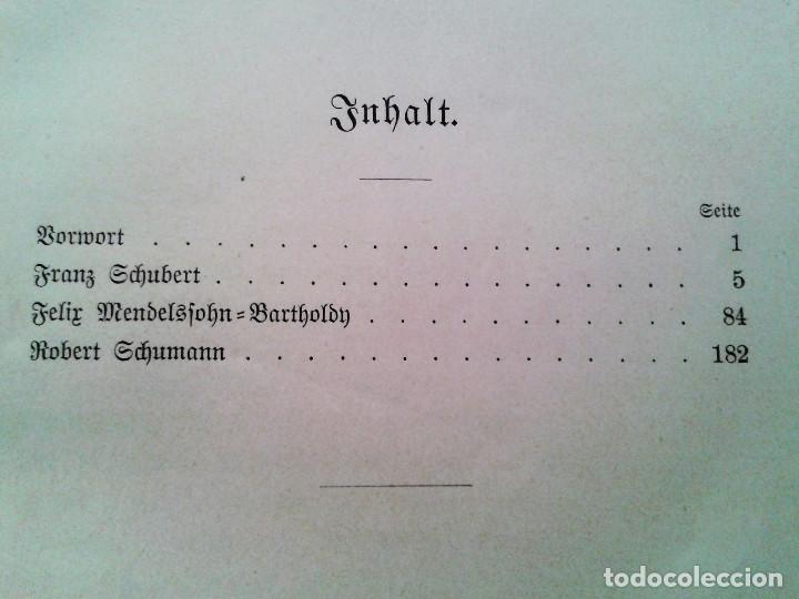 Libros antiguos: Neuere Meister / Los nuevos maestros, Otto Gumprecht (1883). Schubert / Mendelssohn / Schumann - Foto 2 - 65683930