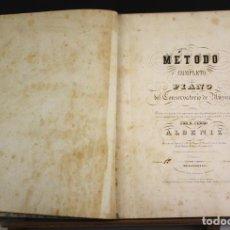Libros antiguos: 8237 - MÉTODO COMPLETO DE PIANO DEL CONSERVATORIO DE MÚSICA. ALBENIZ. ALMACENES DE MÚSICA.. Lote 68241841