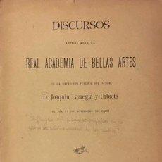 Libros antiguos: LARREGLA Y URBIETA: INFLUENCIA DEL PIANISTA COMPOSITOR EN LA EDUCACIÓN MUSICAL... (1ª ED. 1906). . Lote 68623509