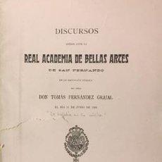 Libros antiguos: FERNÁNDEZ GRAJAL / TOMÁS BRETÓN: LA MELODÍA EN LA MÚSICA (ACAD DE SAN FERNANDO, 1905. Lote 71810159