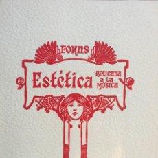 Libros antiguos: ESTÉTICA APLICADA A LA MÚSICA TOMO II. Lote 72644147