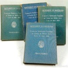 Libros antiguos: CONCERTS SIMFÒNICS POLPULARS AL PALAU DE BELLES ARTS, PROGRAMES. 1932-1937. 4 VOLÚMENES. VER FOTOS. Lote 73039763