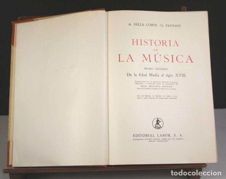 Libros antiguos: 5050-2 - HISTORIA DE LA MÚSICA. TOMOS I Y II. (VER DESCRIP). VV. AA. EDIT. LABOR. 1950. - Foto 3 - 75335555