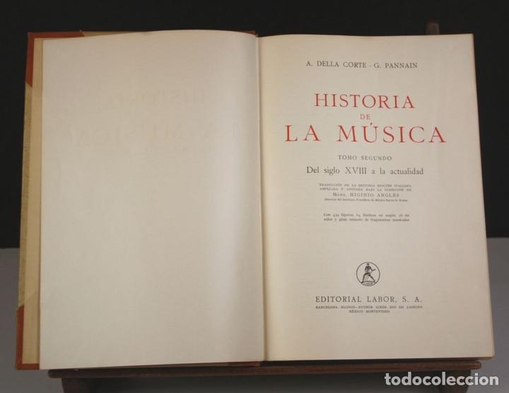 Libros antiguos: 5050-2 - HISTORIA DE LA MÚSICA. TOMOS I Y II. (VER DESCRIP). VV. AA. EDIT. LABOR. 1950. - Foto 6 - 75335555