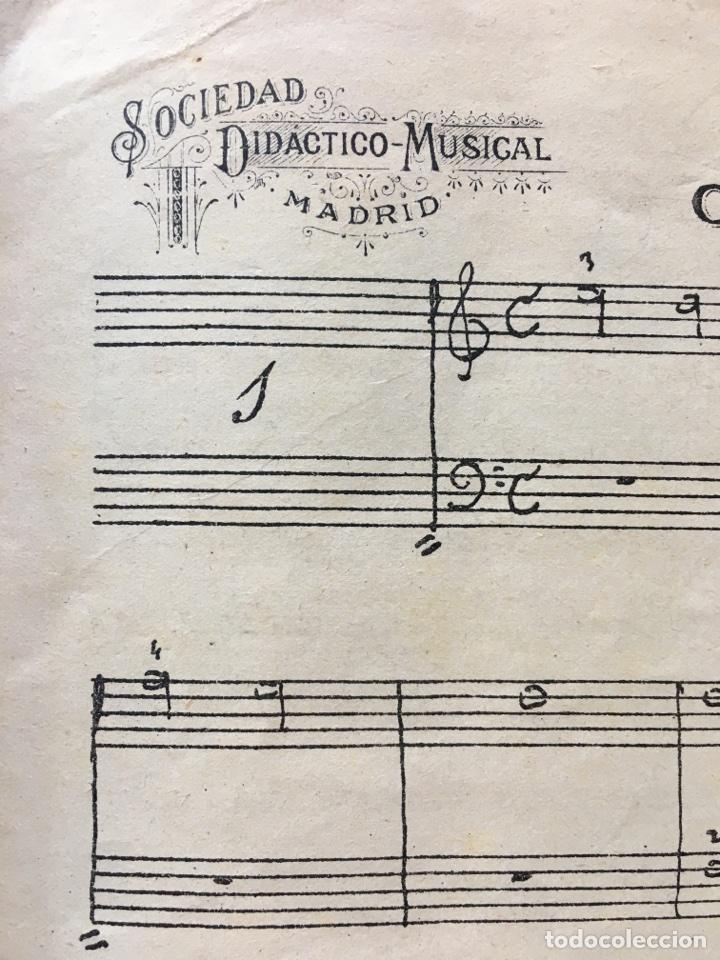 Libros antiguos: Libro.- Clases de Piano. Sociedad Didáctico Musical de Madrid (1912) - Foto 3 - 77509389